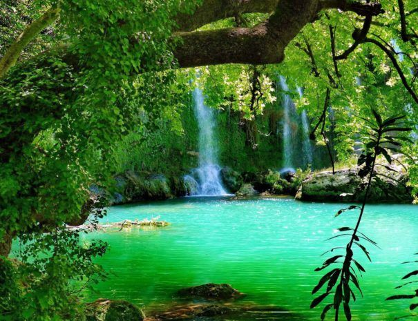 waterfall-kursunlu-antalya-turkey-forest-tree